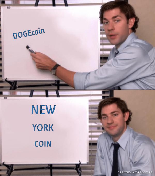 DOGEcoin… NEW… YORK… COIN