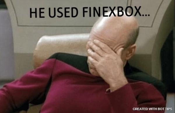 He used Finexbox…